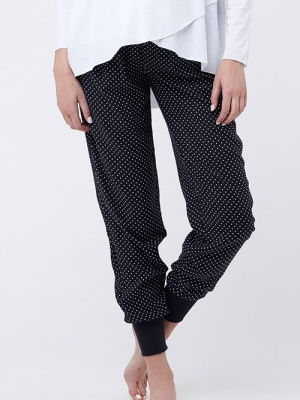 Ripe Tori Sleep Pants in Black & White Polka Dots-16128