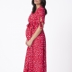 Seraphine Maternity Bessie Red Floral Maternity Dress